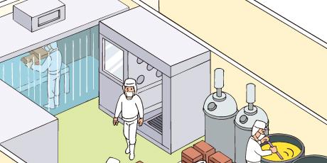 エアーウォッシャー(出入口設置型)の設置例