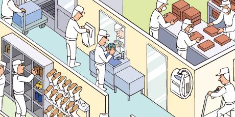手指消毒器(自動ドア連動)設置例