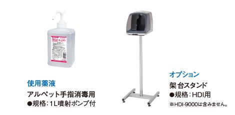 手指消毒器(自動ドア連動)使用薬液・オプション