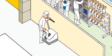 プレジデント(自動靴磨き機)の設置例
