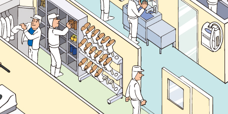 スカットくん(温風長靴乾燥機)設置例