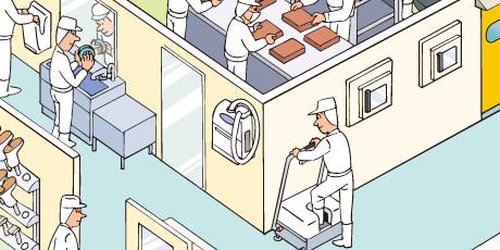 取るミング(作業服のホコリ除去)の使用例